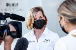 Susie Wolff, Team Principal, Venturi Racing, is interviewed after Qualifying