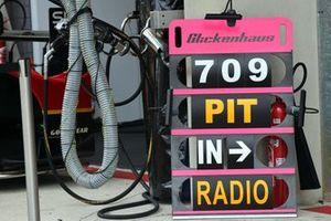 #709 Glickenhaus Racing Glickenhaus 007 LMH Hypercar, pit board