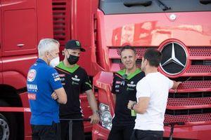 Jonathan Rea, Kawasaki Racing Team WorldSBK, mit Andrew Pitt, Fabien Foret, Randy De Puniet
