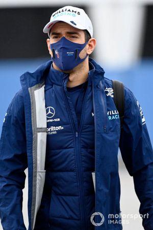 Nicholas Latifi, Williams arrive au circuit