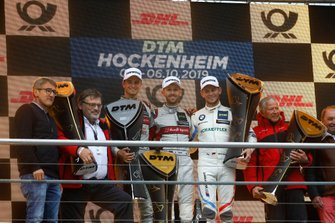 Champion Podium: Champion René Rast, Audi Sport Team Rosberg, second place , Nico Müller, Audi Sport Team Abt Sportsline, third place Marco Wittmann, BMW Team RMG, Manufacturer winner Hans-Joachim Rothenpieler, Member of the board, Audi AG, Arno Zensen, Audi Sport Team Rosberg, Team champion