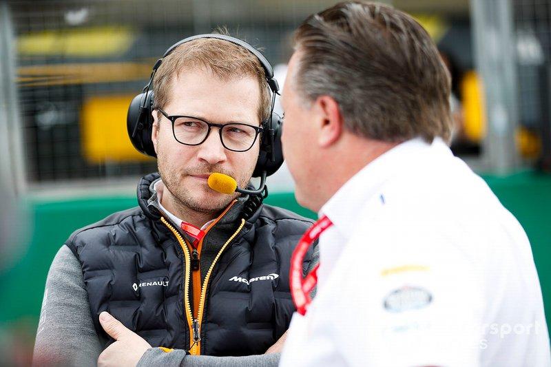 Andreas Seidl, Team Principal, McLaren, Zak Brown, Executive Director, McLaren