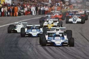 Didier Pironi, Ligier, Alan Jones, Williams, Jacques Laffite, Ligier, Carlos Reutemann, Williams