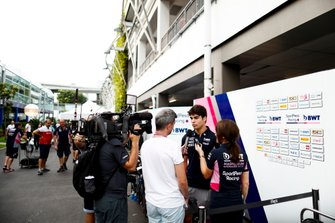 Lance Stroll, Racing Point speaks to the media