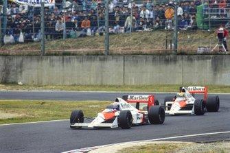 Alain Prost, McLaren MP4/5, Ayrton Senna, McLaren MP4/5