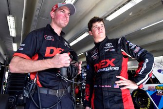 Harrison Burton, Joe Gibbs Racing, Toyota Supra Dex Imaging and Ben Beshore