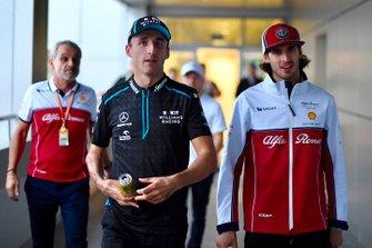 Robert Kubica, Williams Racing, and Antonio Giovinazzi, Alfa Romeo Racing