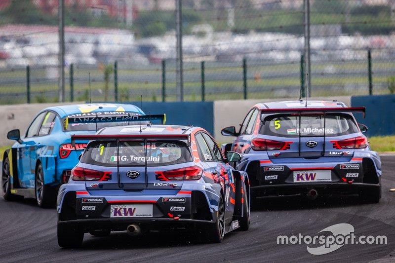 Gabriele Tarquini, BRC Hyundai N Squadra Corse Hyundai i30 N TCR, Norbert Michelisz, BRC Hyundai N Squadra Corse Hyundai i30 N TCR