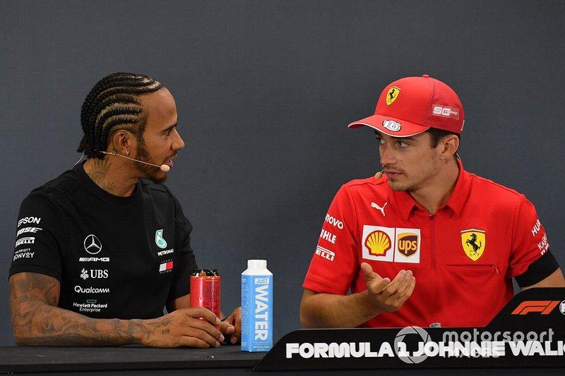 Hamilton e Leclerc na Bélgica