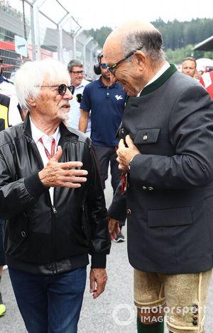 Bernie Ecclestone et Carmelo Carmelo Ezpeleta, PDG Dorna Sports