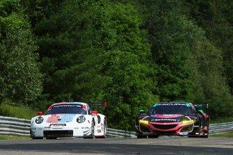 #912 Porsche GT Team Porsche 911 RSR, GTLM: Earl Bamber, Laurens Vanthoor, #86 Meyer Shank Racing w/ Curb-Agajanian Acura NSX GT3, GTD: Mario Farnbacher, Trent Hindman