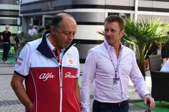 Frederic Vasseur, Team Principal, Alfa Romeo Racing with Allan McNish