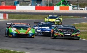 #63 GRT Grasser Racing Team Lamborghini Huracan GT3 Evo: Christian Engelhart, Mirko Bortolotti, #563 Orange 1 FFF Racing Team Lamborghini Huracan GT3 Evo: Andrea Caldarelli, Marco Mapelli