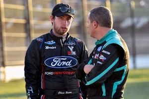Chase Briscoe, ThorSport Racing, Ford F-150 DiaEdge and Johnny Sauter, ThorSport Racing, Ford F-150 Tenda Heal