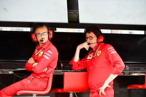 Laurent Mekies, Sporting Director, Ferrari, and Mattia Binotto, Team Principal Ferrari