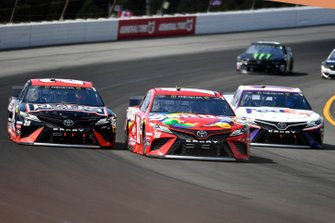 Kyle Busch, Joe Gibbs Racing, Toyota Camry M&M's Skittles, Erik Jones, Joe Gibbs Racing, Toyota Camry Reser's Main St Bistro, Denny Hamlin, Joe Gibbs Racing, Toyota Camry FedEx Ground