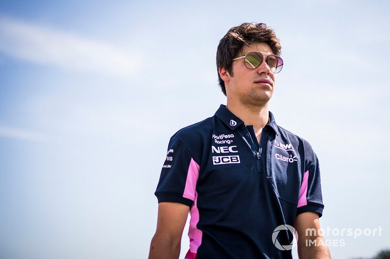 Lance Stroll, Racing Point fait un trackwalk