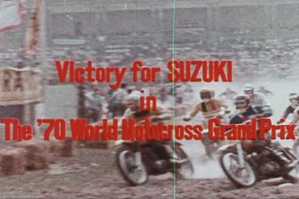 Victory for Suzuki in the 1970 World Motocross Grand Prix