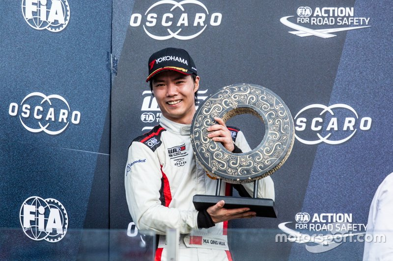 Podio: secondo classificato Ma Qing Hua, Team Mulsanne Alfa Romeo Giulietta TCR