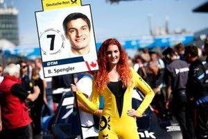 Grid girl of Bruno Spengler, BMW Team RMG
