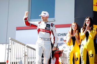 Podium: Race winner René Rast, Audi Sport Team Rosberg