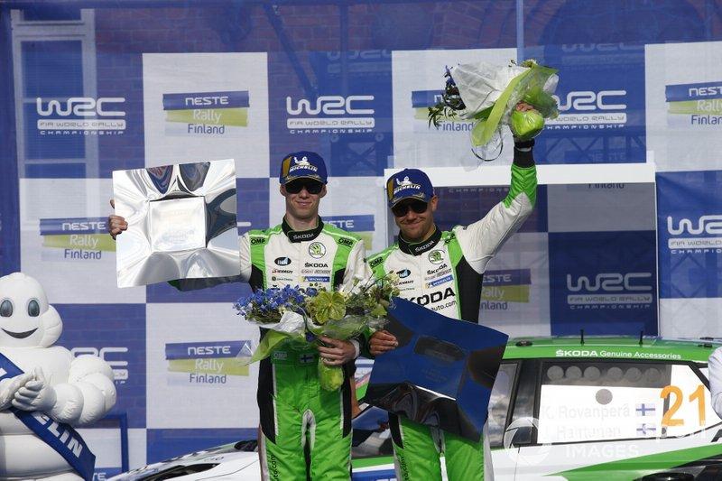 Ganador WCR2 Pro, Kalle Rovanperä, Jonne Halttunen, Skoda Motorsport Skoda Fabia R5
