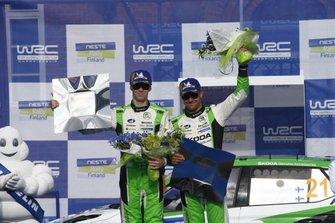 Winnaar WCR2 Pro, Kalle Rovanperä, Jonne Halttunen, Skoda Motorsport Skoda Fabia R5