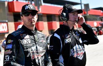 Kyle Busch, Joe Gibbs Racing, Toyota Supra iK9 and Ben Beshore