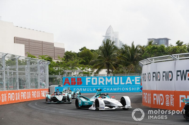 Tom Dillmann, NIO Formula E Team, NIO Sport 004, Mitch Evans, Panasonic Jaguar Racing, Jaguar I-Type 3, Nelson Piquet Jr., Panasonic Jaguar Racing, Jaguar I-Type 3