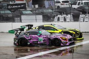 #71 P1 Motorsports Mercedes-AMG GT3, GTD: Maximilian Buhk, Fabian Schiller, JC Perez, #14 AIM Vasser Sullivan Lexus RC F GT3, GTD: Richard Heistand, Jack Hawksworth, Philipp Frommenwiler