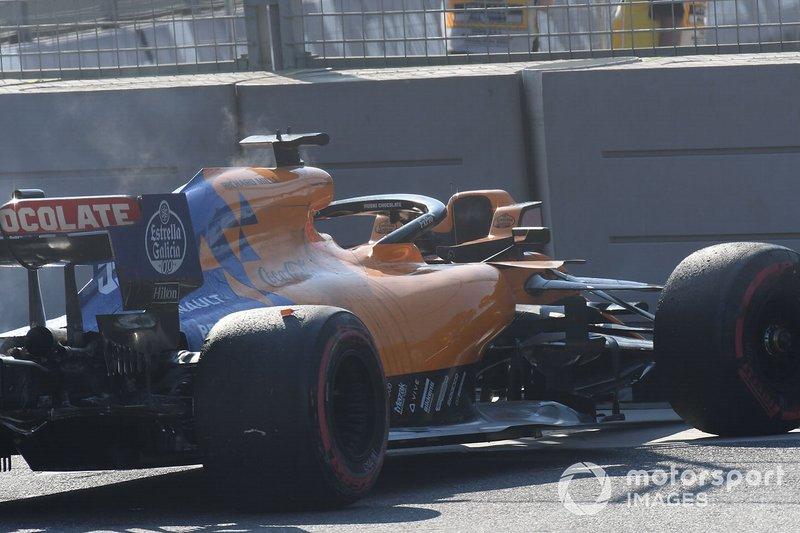 Carlos Sainz Jr., McLaren MCL34 se retira