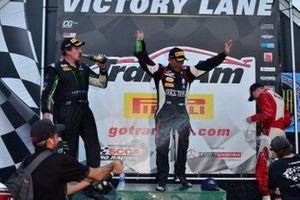 TA podium finishers Boris Said, Lawrence Loshak, and Josh Hurley