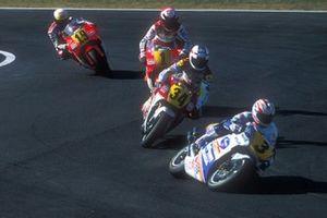 Mick Doohan, Honda, Kevin Schwantz, Suzuki, Wayne Rainey, Yamaha, John Kocinski, Yamaha