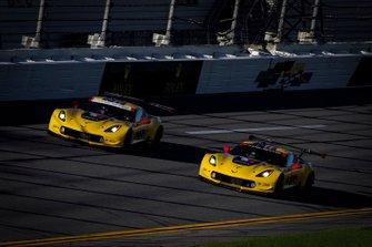 #3 Corvette Racing Corvette C7.R, GTLM: Jan Magnussen, Antonio Garcia, Mike Rockenfeller, #4 Corvette Racing Corvette C7.R, GTLM: Oliver Gavin, Tommy Milner, Marcel Fassler