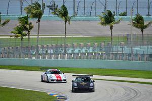 #19 MP1B Porsche 991 driven by Lino Fayen & Angel Benitez Jr. of Formula Motorsport, #88 MP1B Porsche GT3 Cup driven by Carlos Crespo of MCC Motorsports