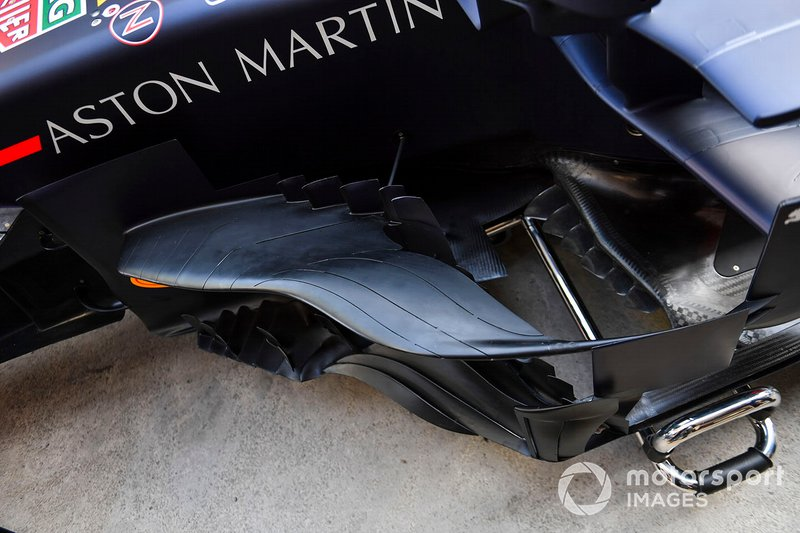 Detalle aerodinámico del Red Bull Racing RB15