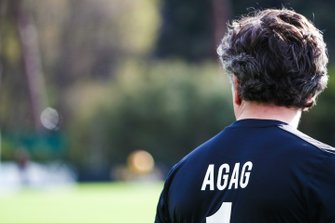 Alejandro Agag, CEO, Formula E, in football kit