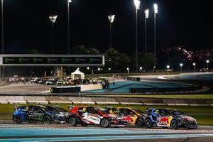 Timmy Hansen, Team Hansen MJP. #x48#, Andreas Bakkerud, Monster Energy RX Cartel#, Kevin Hansen, Team Hansen MJP