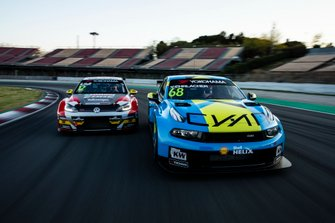 Rob Huff, SLR VW Motorsport Volkswagen Golf GTI TCR, Yann Ehrlacher, Cyan Performance Lynk & Co 03 TCR