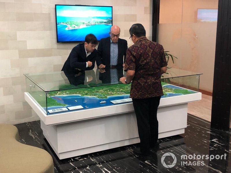 Sporting Director Carlos Ezpeleta and Dorna CEO Carmelo Ezpeleta prepare for Indonesia to be on the MotoGP map