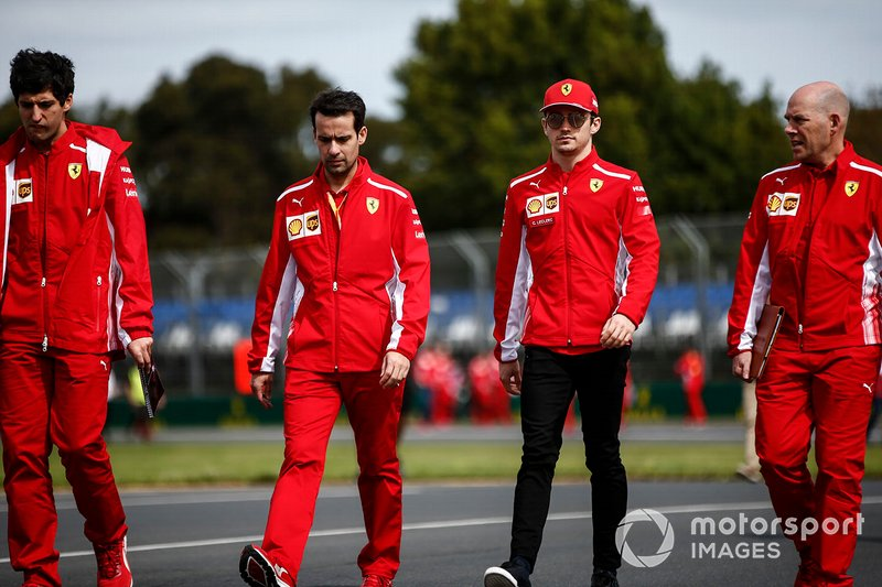 Charles Leclerc, Ferrari, with Jock Clear, Race Engineer, Ferrari