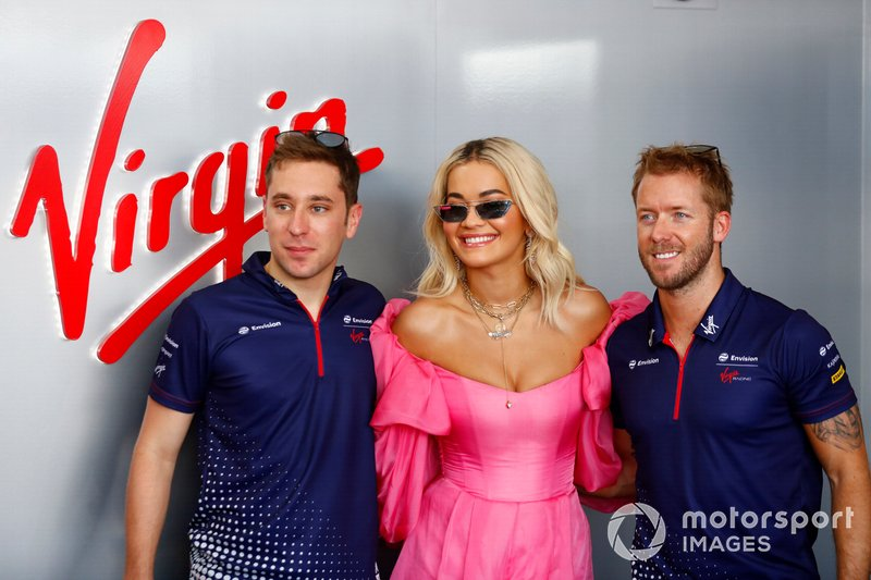 Rita Ora with Robin Frijns, Envision Virgin Racing, Sam Bird, Envision Virgin Racing