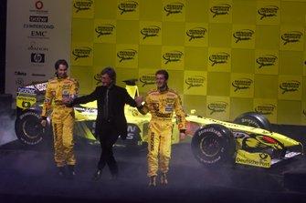Heinz-Harald Frentzen, Eddie Jordan, Jarno Trulli, Jordan