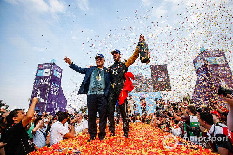 Jean-Eric Vergne, DS TECHEETAH, celebrates victory