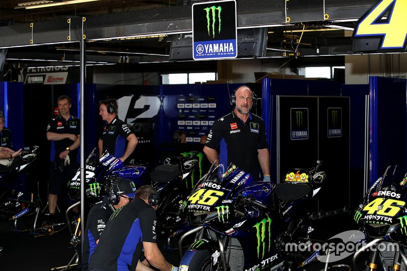 Garagge of Maverick Viñales, Yamaha Factory Racing and Valentino Rossi, Yamaha Factory Racing