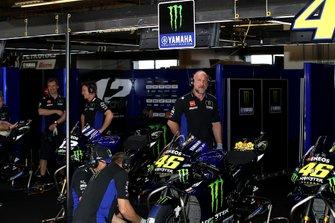 Garaje de Maverick Viñales, Yamaha Factory Racing y Valentino Rossi, Yamaha Factory Racing