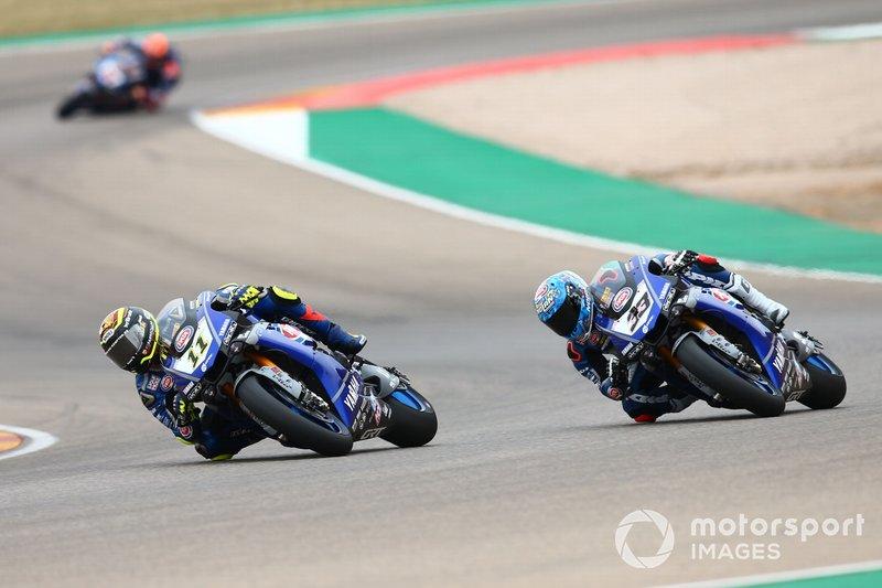 Sandro Cortese, GRT Yamaha WorldSBK, Marco Melandri, GRT Yamaha WorldSBK, Michael van der Mark, Pata Yamaha