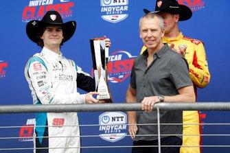 Colton Herta, Harding Steinbrenner Racing Honda, sur le podium