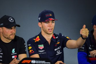 Valtteri Bottas, Mercedes AMG F1 and Pierre Gasly, Red Bull Racing in Press Conference