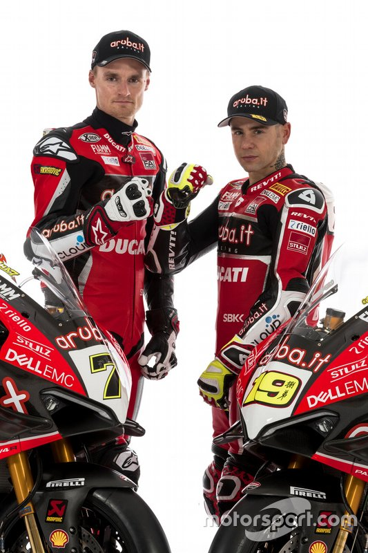 Chaz Davies, Aruba.it Racing-Ducati SBK Team, Alvaro Bautista, Aruba.it Racing-Ducati SBK Team